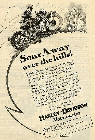 1929 Ad - Soar Away Over the Hills
