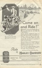 1930 Ad - Come on and Ride