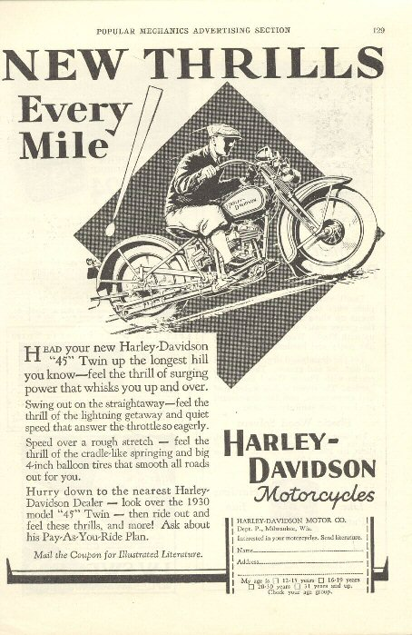 1930 Ad - New Thrill Every Mile