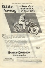1930 Ad - Ride Away