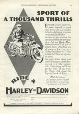 1930 Ad - Sport of a Thousand Thrills