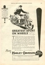 1931 Ad - Greatest Sport on Wheels