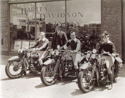 In Front of the Shop, the new 1929 D's